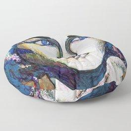 Pop Art Woman Floor Pillow