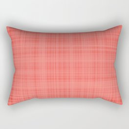 Living Coral Plaid_Tartan Pattern Rectangular Pillow