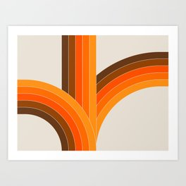Bounce - Golden Art Print
