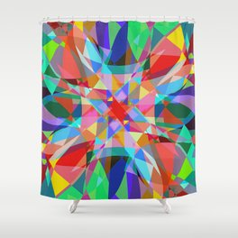 Multicolored Kaleidescope Abstract Shower Curtain