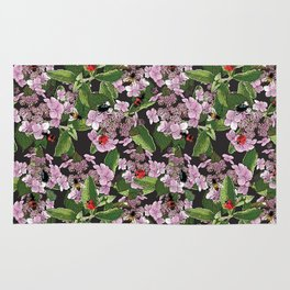 Floral insects pattern Rug