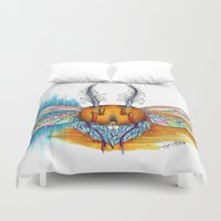bug Duvet Covers featuring Bug by Mr Sarah Lou
