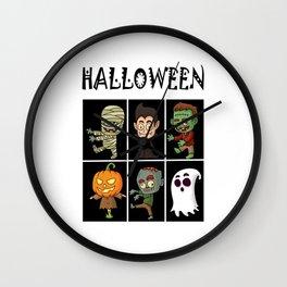 Halloween horror Wall Clock