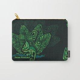 Panamanian kuna camaleon verde duotono Carry-All Pouch
