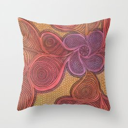 Free Your Mind in Color Throw Pillow
