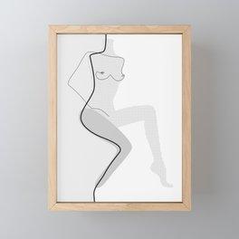 White Movement Framed Mini Art Print