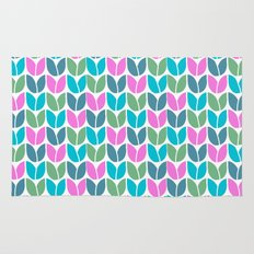 Tulip Knit (Teal Pink Blue Green) Rug