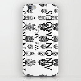 We Are Anonyous iPhone Skin
