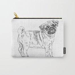 Cute Sad Pug Carry-All Pouch