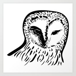 Who? Hoo Art Print