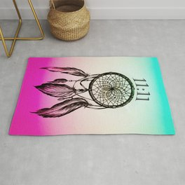 11:11 Eleven Eleven Spiritual Dream Catcher Rug