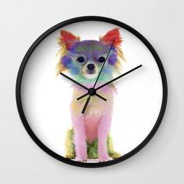 Colorful Chihuahua Wall Clock
