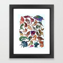 Reverse Mermaids Framed Art Print