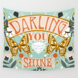 Darling You Shine Wall Tapestry