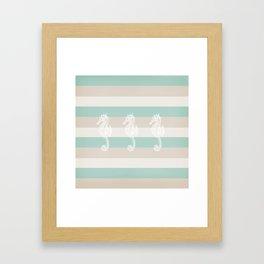 3 seahorses Framed Art Print
