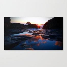 Trebarwith Strand Reflection Canvas Print