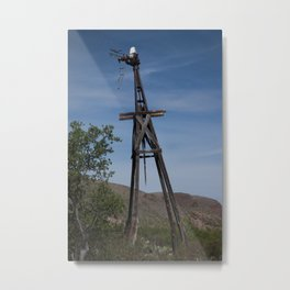 Broken Windmill Metal Print