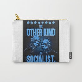 """Vintage Poster """"The Other Kind of Socialist"""" Alcoholic Lithograph Advertisement in dark blue Carry-All Pouch"""