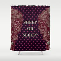 sheep Shower Curtains featuring SHEEP by AKIKO