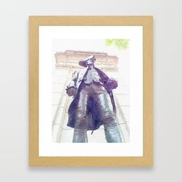 Memorial By WWII Framed Art Print