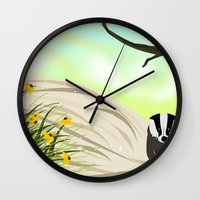 badger Wall Clocks featuring Badger by TailorMade:ART