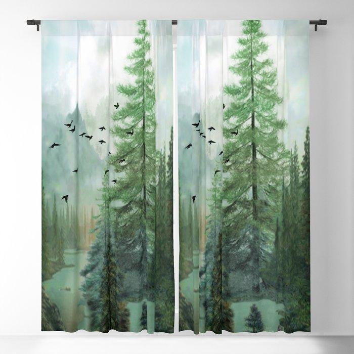 Mountain Morning 2 Blackout Curtain