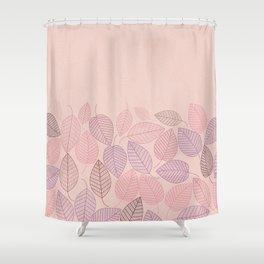 LEAVES ENSEMBLE ROSE Shower Curtain