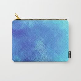 Turquoise Seas Abstract Watercolor - Crosshatched Carry-All Pouch