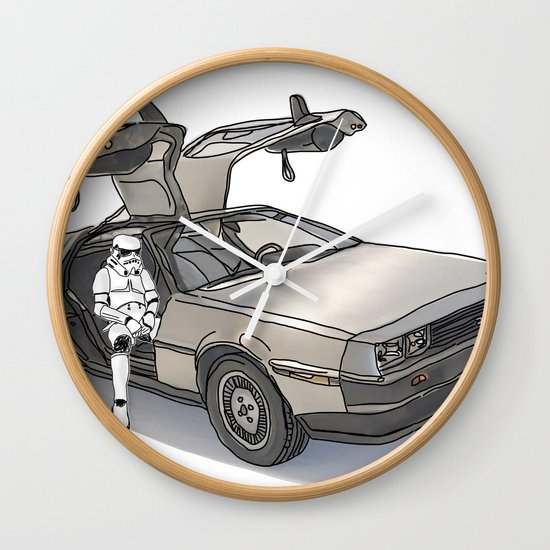 Stormtroooper in a DeLorean - star wars Wall Clock