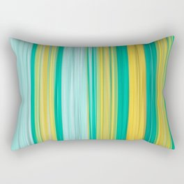 turquoise green yellow abstract striped pattern Rectangular Pillow