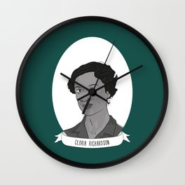 Gloria Richardson Illustrated Portrait Wall Clock