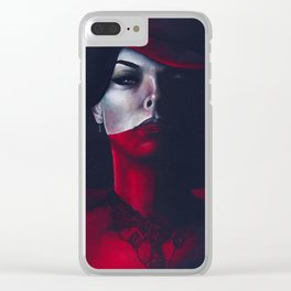 Miss Scarlet Clear iPhone Case