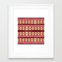 cleveland Framed Art Prints featuring Cleveland by Little Brave Heart Shop