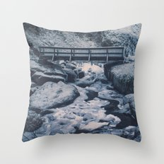 Cold Start Throw Pillow