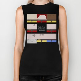 Maybe it's not the Destination that matters - square - Star Trek: Voyager VOY  trektangle minimalist Biker Tank