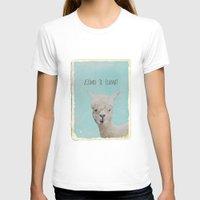 lama T-shirts featuring Lama by Monika Strigel®
