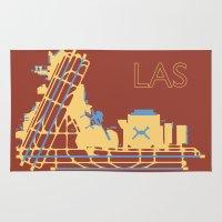 las vegas Area & Throw Rugs featuring Las Vegas (LAS) - Desert by Kyle Rodgers