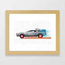 Great Scott! Back to the Future Delorean Print Framed Art Print