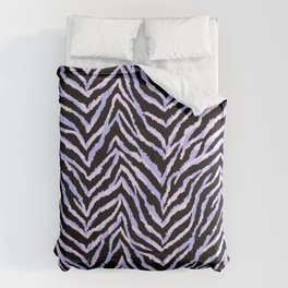 Zebra fur texture print II Comforters