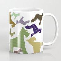 schnauzer Mugs featuring schnauzer pattern by monicamarcov