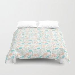 Pastel Whale Pattern Duvet Cover