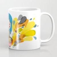 ramen Mugs featuring I love ramen by inkdesigner