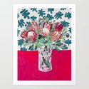 Bouquet of Proteas with Matisse Cutout Wallpaper by larameintjes