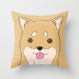Shiba bby Throw Pillow