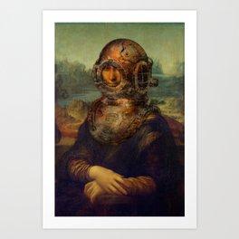 Steampunk Mona Lisa - Leonardo da Vinci Art Print