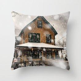 Christmas Story blizzard Throw Pillow