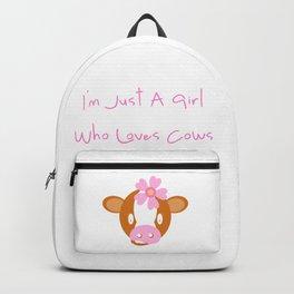 Calf Cow Pink Flower Cute Girl Gift Backpack