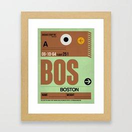BOS Boston Luggage Tag 1 Framed Art Print