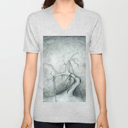 Tree Crippled by Chains Unisex V-Neck