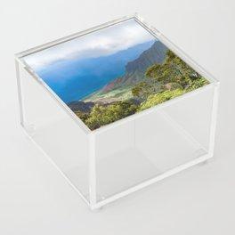 Kalalau lookout in Koke'e State Park - Kauai, Hawaii Acrylic Box